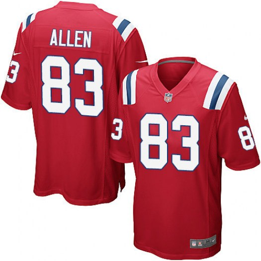 Nike Dwayne Allen New England Patriots Game Red Alternate Jersey - Men's
