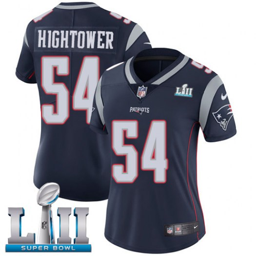 Nike Dont'a Hightower New England Patriots Limited Navy Blue Team Color Vapor Untouchable Player Super Bowl LII Jersey - Women's