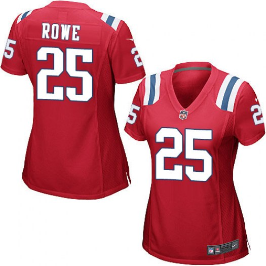 Nike Eric Rowe New England Patriots Game Red Alternate Jersey - Women's