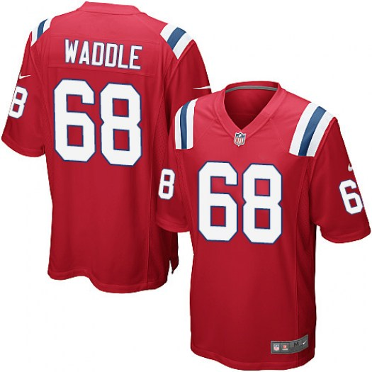 Nike LaAdrian Waddle New England Patriots Game Red Alternate Jersey - Men's