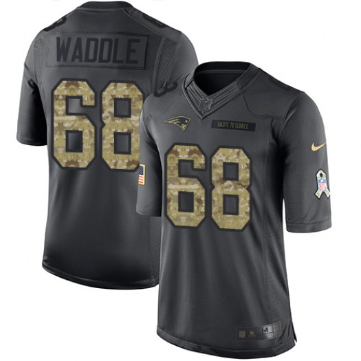 Nike LaAdrian Waddle New England Patriots Limited Black 2016 Salute to Service Jersey - Men's