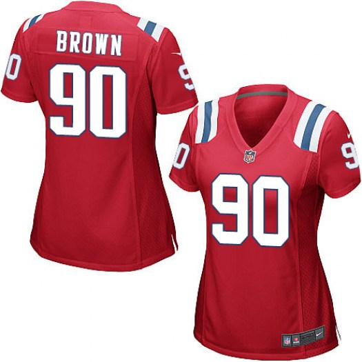 Nike Malcom Brown New England Patriots Game Red Alternate Jersey - Women's