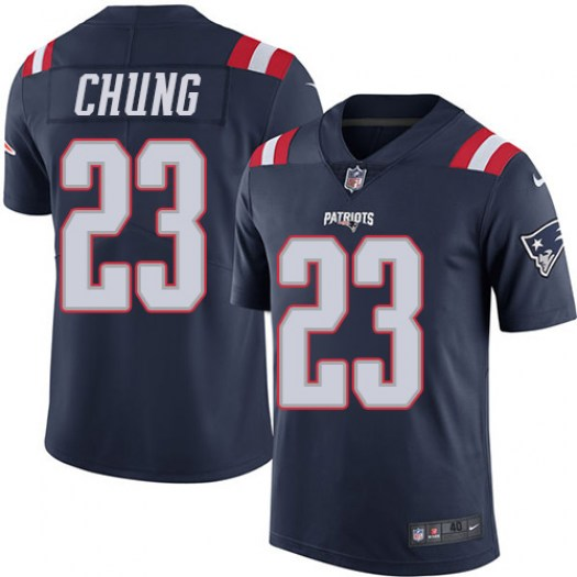Nike Patrick Chung New England Patriots Elite Navy Blue Color Rush Jersey - Men's